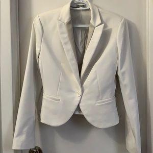 Express blazer white with beige colour block